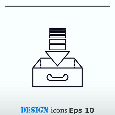 project inbox Icon, vector illustration. Flat design style.