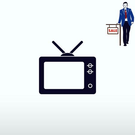 led: Home appliances icon. TV icon. Vector illustration.