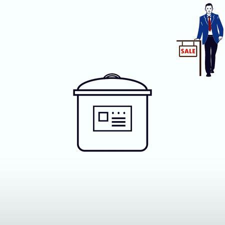 For sale rice cooker illustration.
