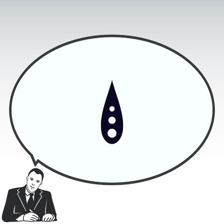 Drop icon.  Flat Vector illustration Ilustração