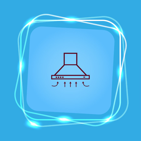 extractor: Home appliances icon. Kitchen hood icon. Vector illustration. Illustration