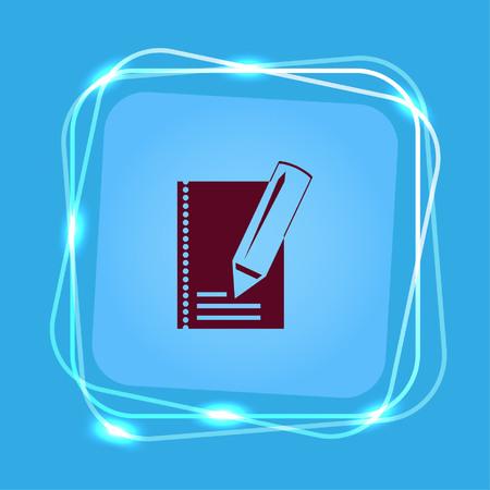 grafit: Notebook ikon, ilustracji wektorowych. Ilustracja