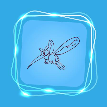 leech: Mosquito icon. Leech icon. Wasp icon. Fly icon, vector illustration.
