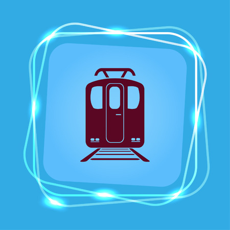 Passenger train, subway, Metro, public transport  icon.