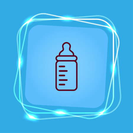 Baby bottle icon, vector illustration. Flat design style