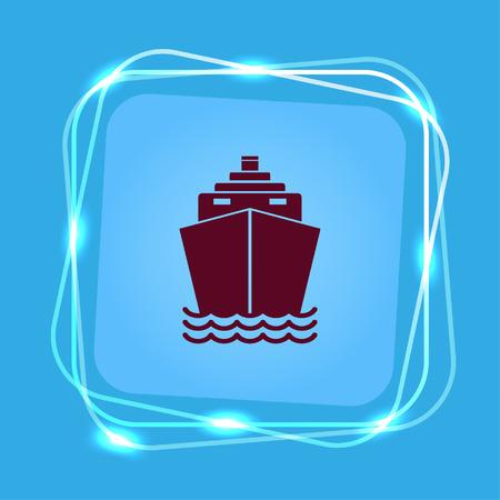 Ship icon illustration.