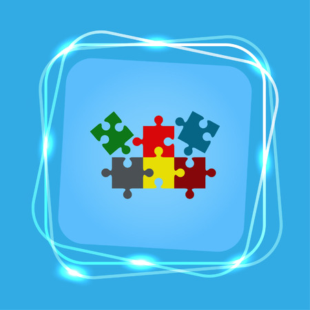 Puzzle, vector illustration.
