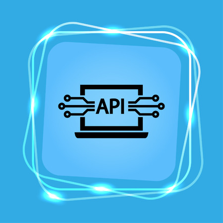 computer api interface icon, vector illustration. Flat design style. Vettoriali
