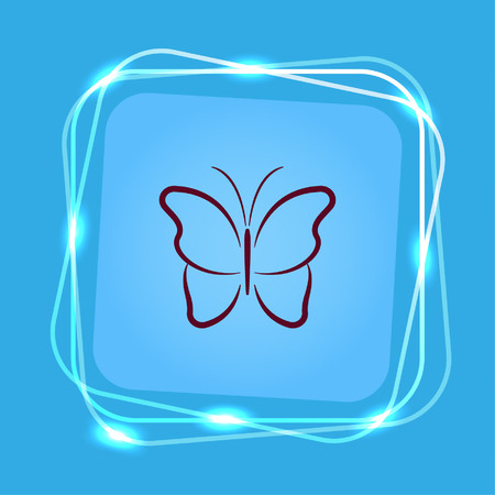 Butterfly icon, vector illustration. Ilustrace