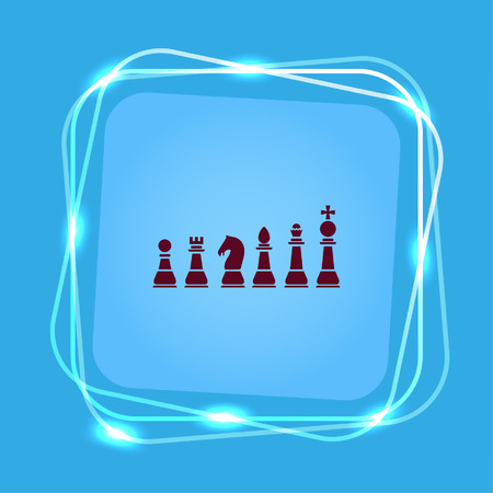 piece: icon chess pieces, vector illustration. Illustration