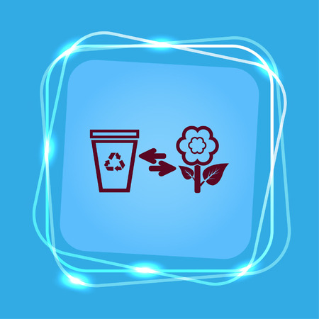 Throw away the trash icon, recycle icon Stock Vector - 82043537