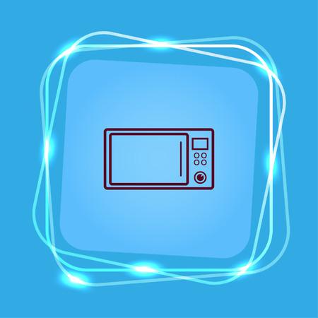 microondas: Home appliances icon. Microwave icon. Vector illustration. Kitchenware.