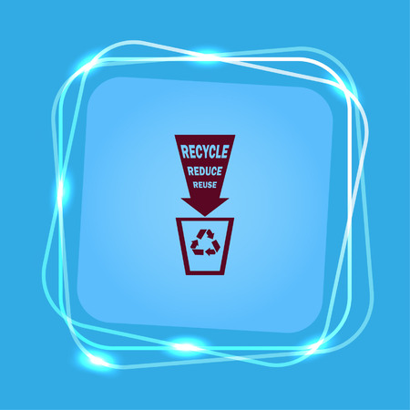 Throw away the trash icon, recycle icon Stock Vector - 82040321