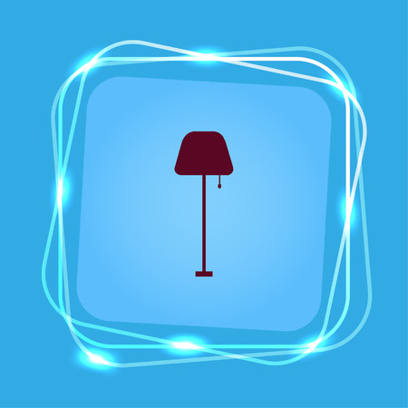 Home appliances icon. Table lamp, floor lamp, chandelier icon. Vector illustration. Illustration