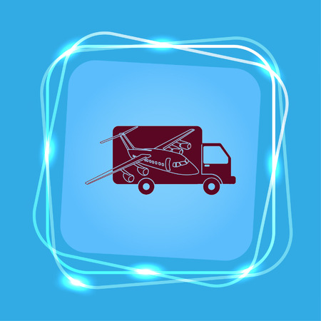 Delivery sign icon, vector illustration. Illustration
