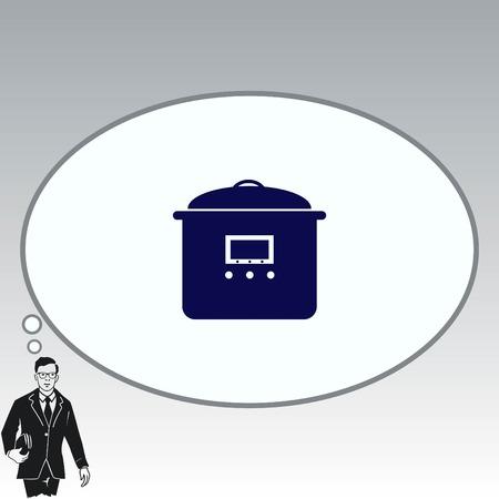 Home appliances icon. pan icon.