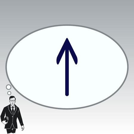 repetition: Arrow indicates the direction  icon, vector illustration