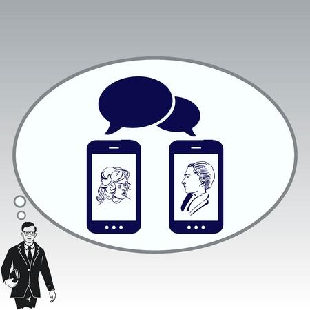 Der Hörer, Telefonsymbol, Vektor-Illustration.