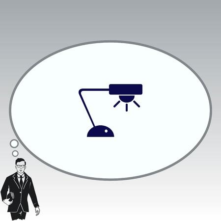 furniture design: Home appliances icon. Table lamp, floor lamp, chandelier icon. Vector illustration. Illustration