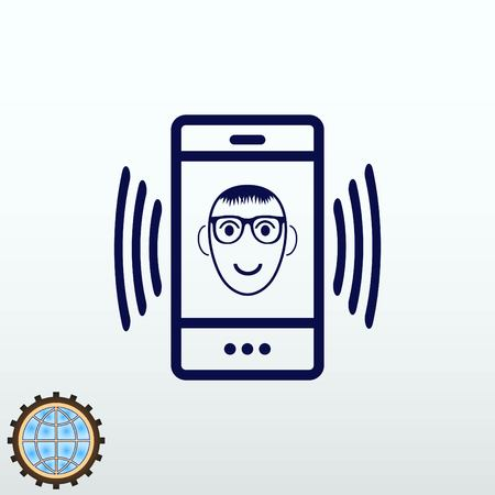 old telephone: Phone handset icon vector illustration.