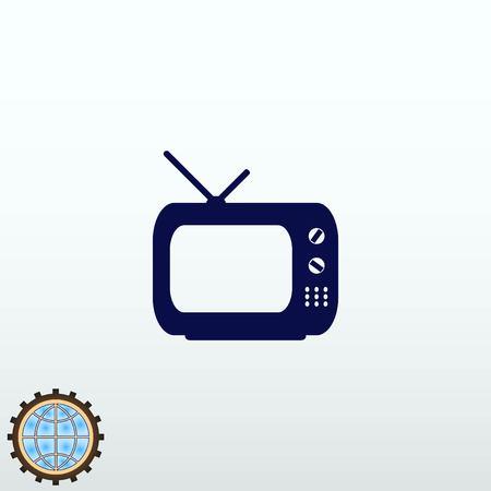 TV icon vector illustration.