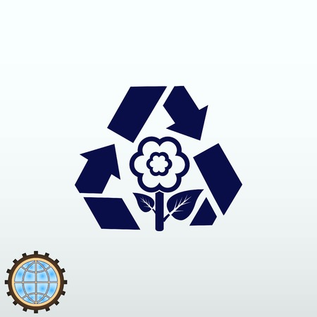 Throw away the trash or recycle icon