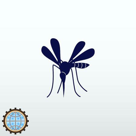 Mosquito icon vector illustration.