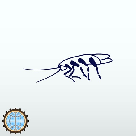 Cockroach pest icon vector illustration.