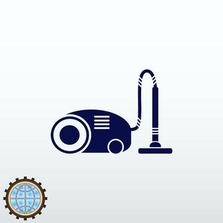 microondas: Home interior design , Vacuums icon, living room, vector illustration. Flat design style.