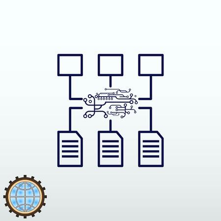 Program algorithm Icon, vector illustration. Flat design style.