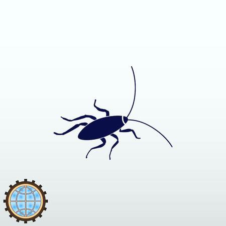 A Cockroach icon, pest icon, vector illustration. Illustration