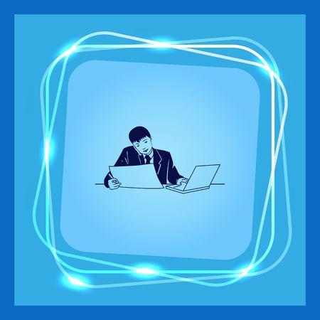 tasking: Multi-tasking. Business concept illustration.