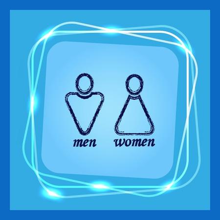 toilet: Restroom icon, vector illustration