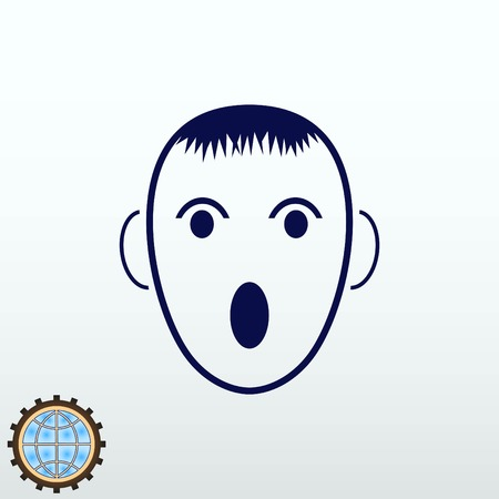 brand identity: Angry little boy Icon.