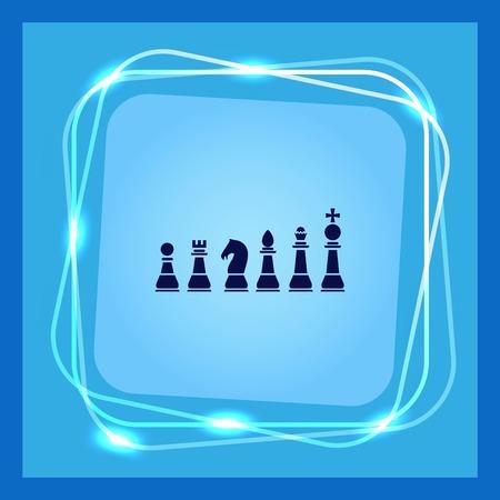 tactics: Icon chess pieces, vector illustration.