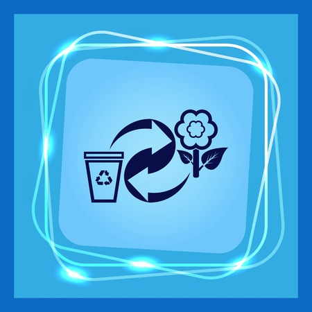 Throw away the trash icon, recycle icon Stock Vector - 83570404