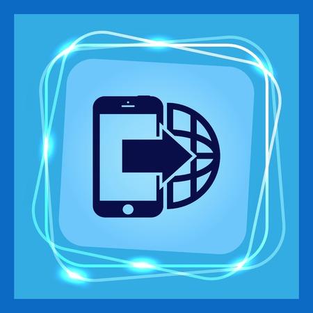 hotline: The handset, phone icon , vector illustration. Illustration