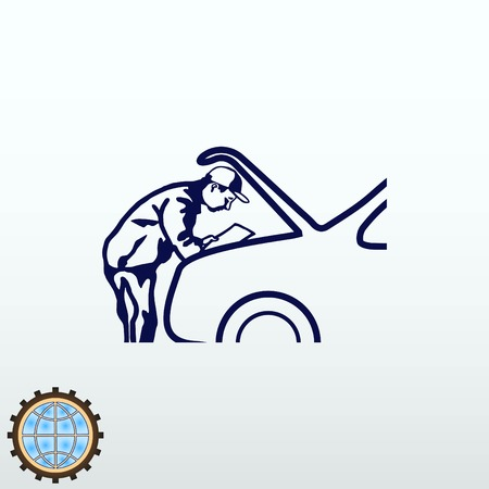 middle: Automotive repair, Car Mechanic Vector Icon. Illustration