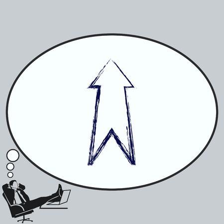 Arrow indicates the direction  icon Illustration