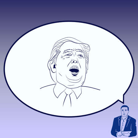 editorial: USA presidential election Donald Trump, vector illustration, Editorial use only.