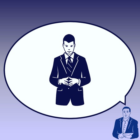 Businessman attentive focused Illustration