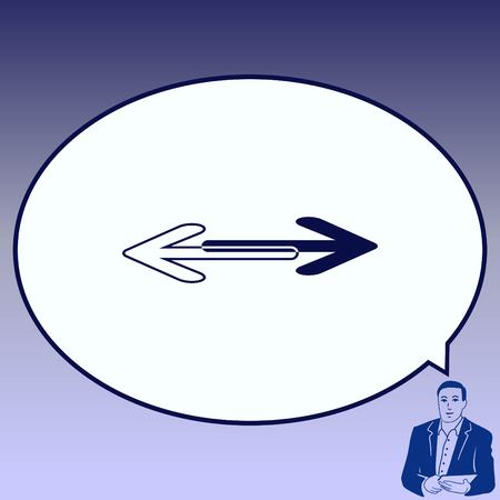 Arrow indicates the direction  icon, vector illustration.