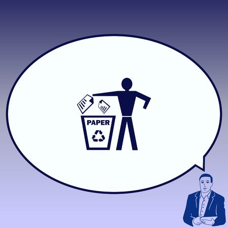 Throw away the trash icon, recycle icon.