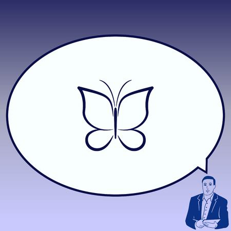 butterfly isolated: Butterfly icon, vector illustration. Illustration