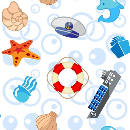 Pattern of sea elements.
