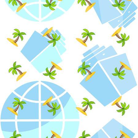 Ocean life theme pattern background