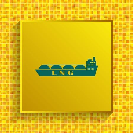 Ship icon, LNG gas carrier, vector illustration. Illustration