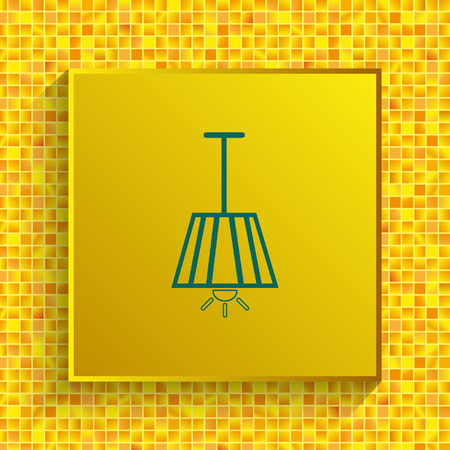 Home appliances icon. Table lamp, floor lamp, chandelier icon vector illustration.
