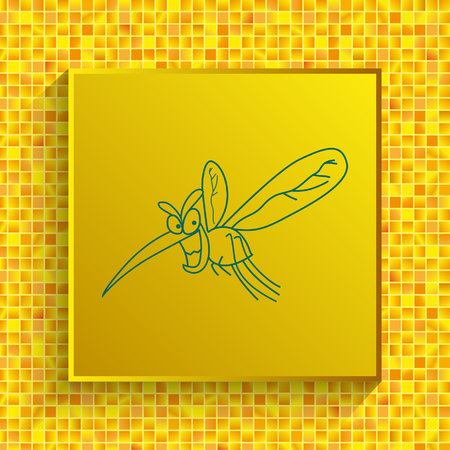 Mosquito icon, leech icon. Wasp icon. Fly icon vector illustration.