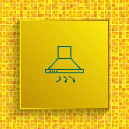 Home appliances icon. Kitchen hood icon vector illustration.